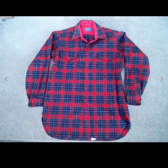 Pendleton Other - Men's Vtg PENDLETON Plaid Board Shirt LG Beach Boy